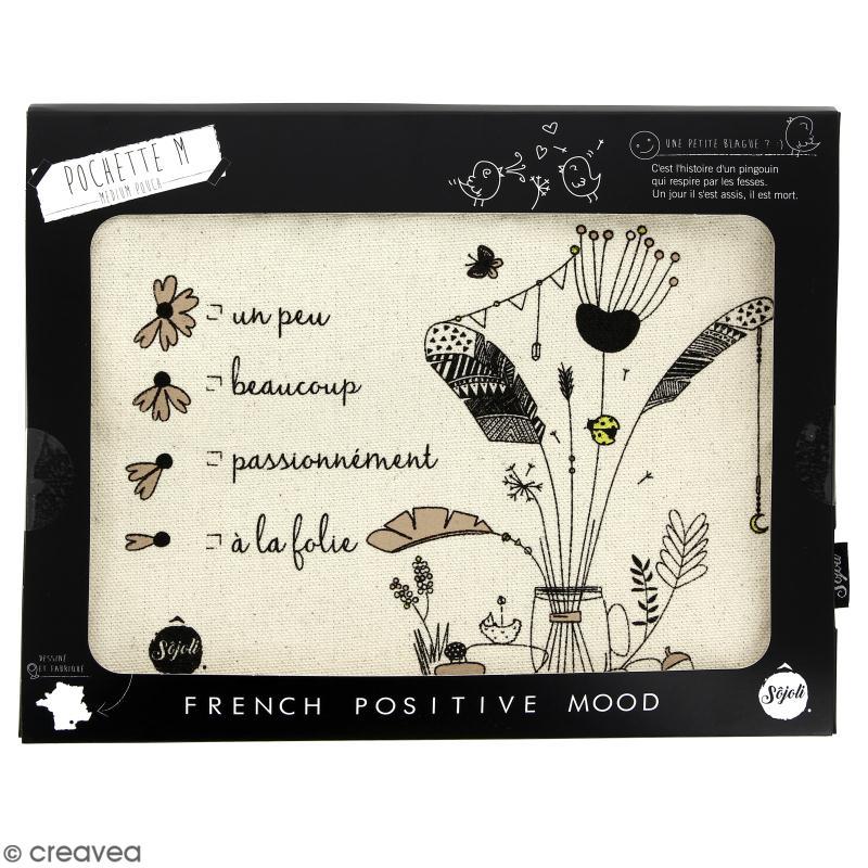 Pochette Un peu, beaucoup... - Taille M - Collection Champêtre - 22 x 16 cm - Photo n°2