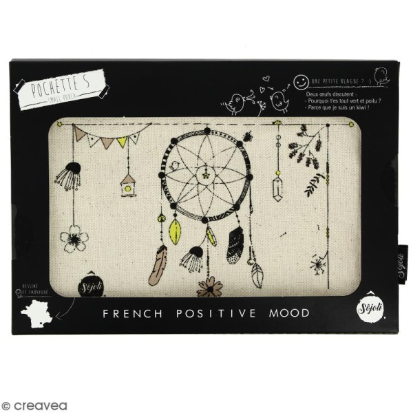 Pochette Attrape Rêves - Taille S - Collection Champêtre - 22 x 12 cm - Photo n°2
