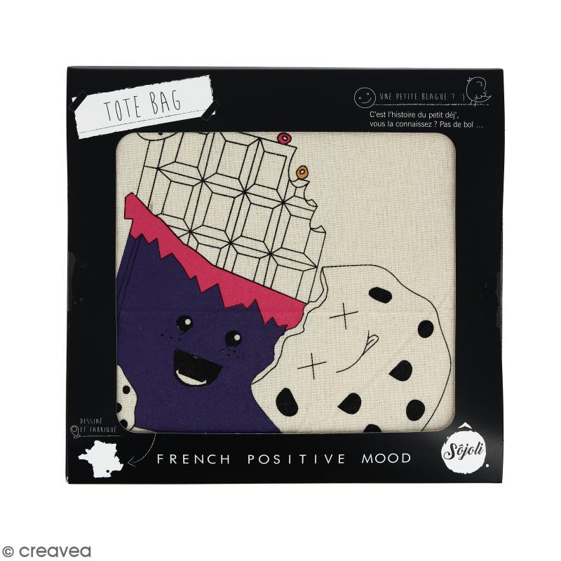 Tote bag Chocopathe - Collection Kawaii - 36 x 42 cm - Photo n°2