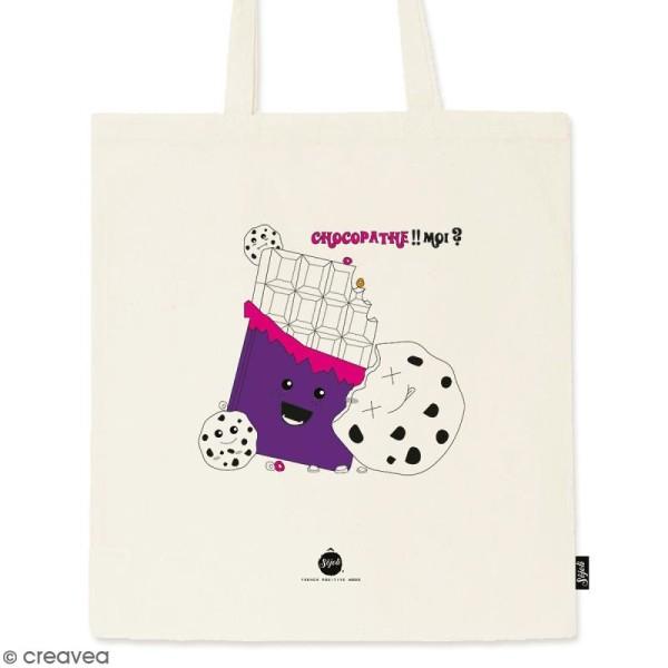 Tote bag Chocopathe - Collection Kawaii - 36 x 42 cm - Photo n°1