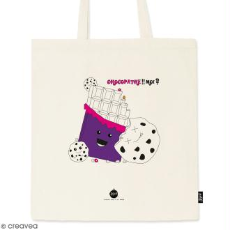 Tote bag Chocopathe - Collection Kawaii - 36 x 42 cm