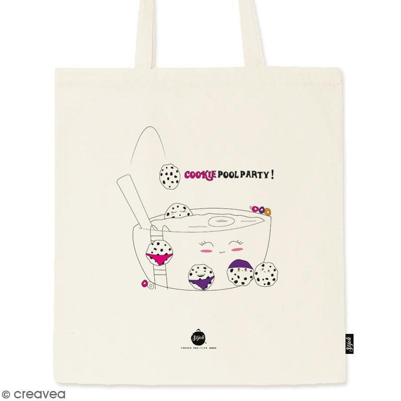 Tote bag Cookie Pool - Collection Kawaii - 36 x 42 cm - Photo n°1