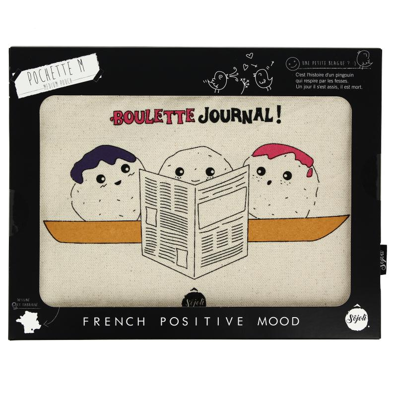 Pochette Boulette Journal - Taille M - Collection Kawaii - 22 x 16 cm - Photo n°2
