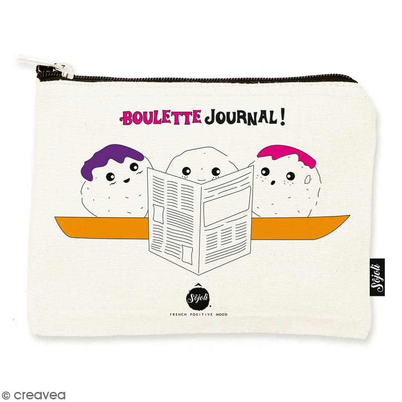 Pochette Boulette Journal - Taille M - Collection Kawaii - 22 x 16 cm - Photo n°1