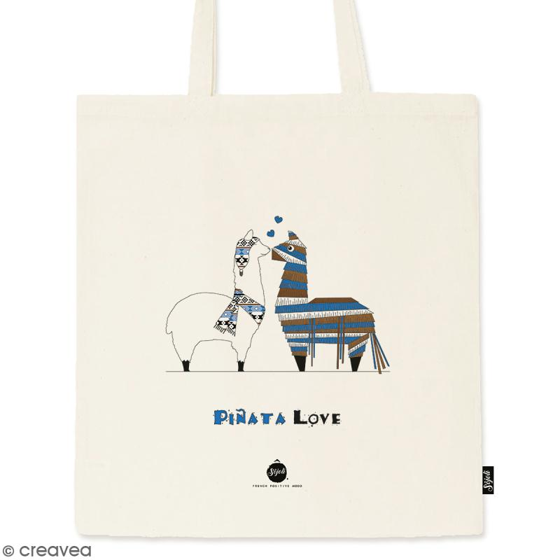 Tote bag Pinata - Collection Lama - 36 x 42 cm - Photo n°1