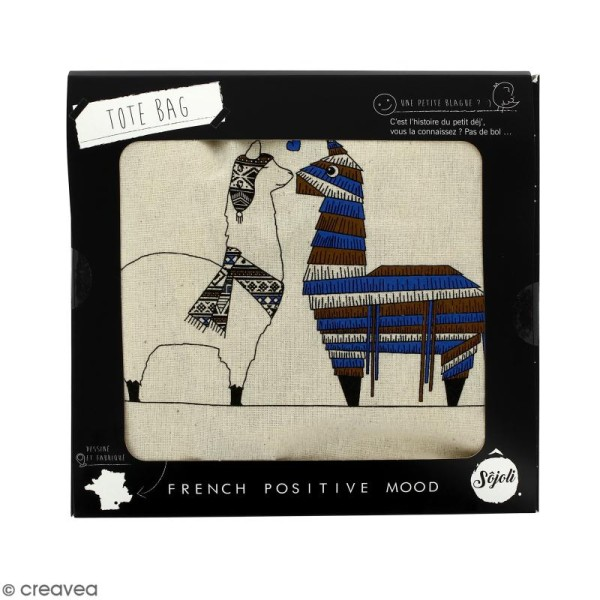 Tote bag Pinata - Collection Lama - 36 x 42 cm - Photo n°2