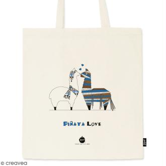 Tote bag Pinata - Collection Lama - 36 x 42 cm