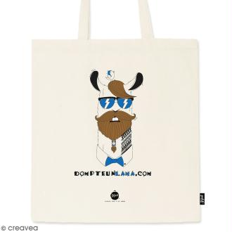 Tote bag Dompte un Lama - Collection Lama - 36 x 42 cm