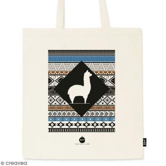 Tote bag Motif Aztèque - Collection Lama - 36 x 42 cm