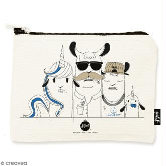 Pochette Family Portrait - Taille M - Collection Lama - 22 x 16 cm