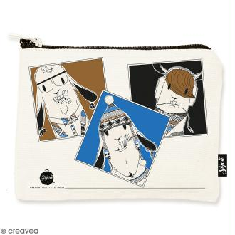 Pochette Lama Selfie - Taille M - Collection Lama - 22 x 16 cm