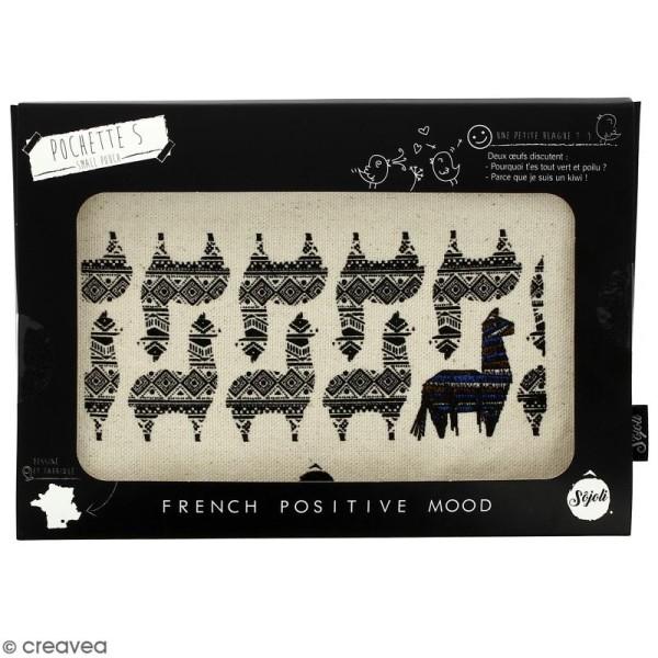 Pochette Motif Lama - Taille S - Collection Lama - 22 x 12 cm - Photo n°2
