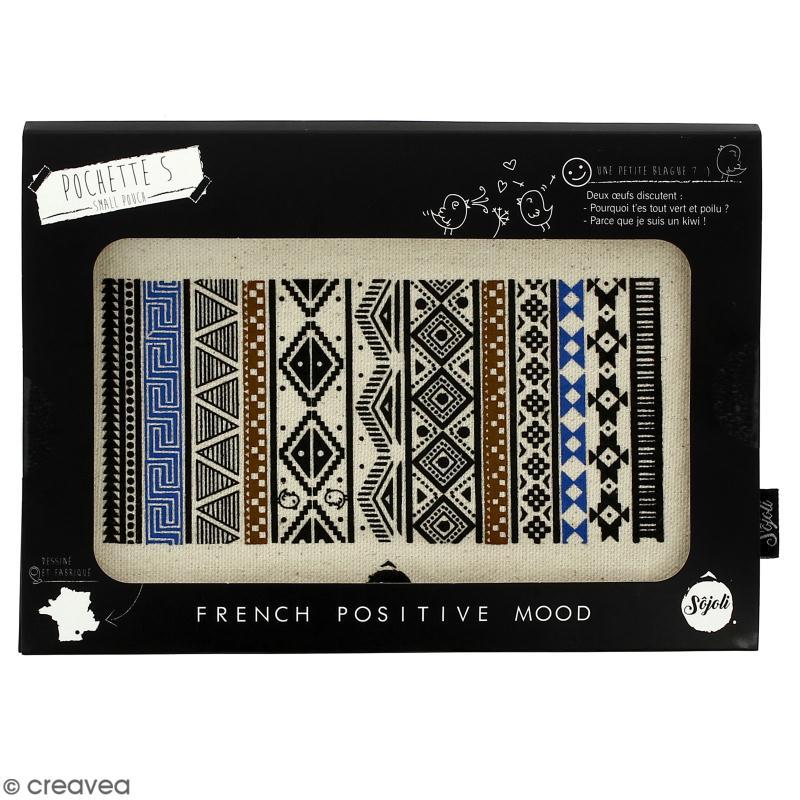 Pochette Motif Aztèque - Taille S - Collection Lama - 22 x 12 cm - Photo n°2
