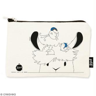 Pochette Tête de Lama - Taille S - Collection Lama - 22 x 12 cm