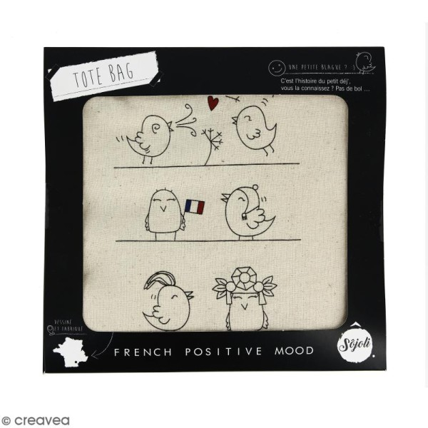 Tote bag Oiseaux - Collection Corporate - 36 x 42 cm - Photo n°2