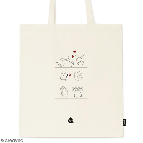 Tote bag Oiseaux - Collection Corporate - 36 x 42 cm - Photo n°1