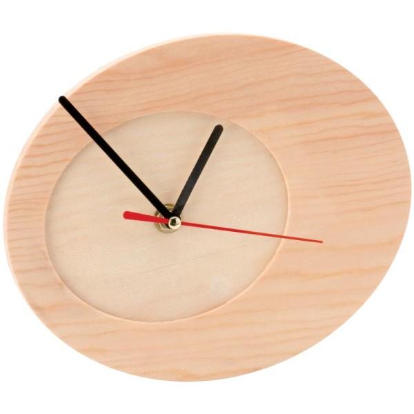 Horloge à décorer en bois ovale 20 cm - Photo n°1