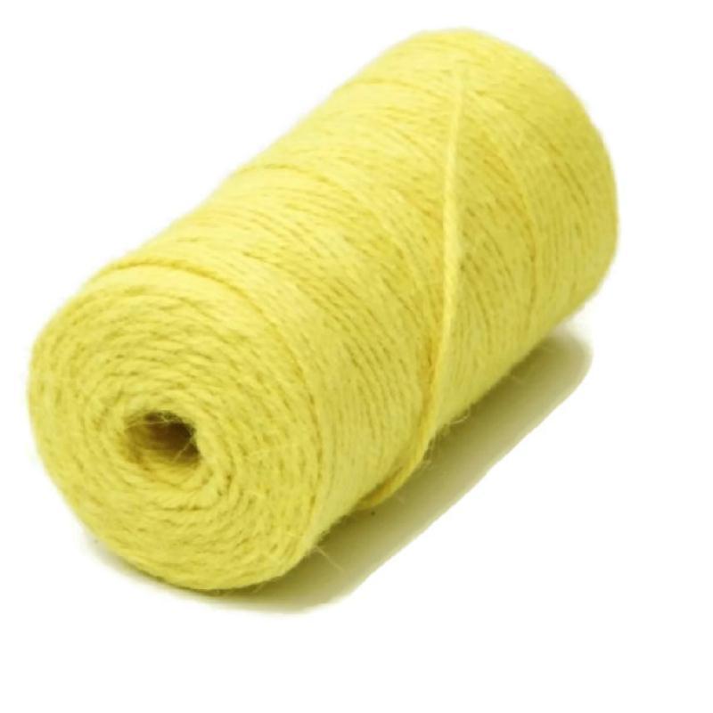 ficelle chanvre jaune clair 2 millim tres au m tre sur mesure cordon au m tre creavea. Black Bedroom Furniture Sets. Home Design Ideas