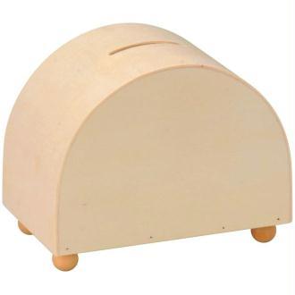 Tirelire ovale en bois 11 cm