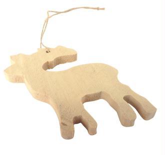 Lot de 6 rennes en bois brut à décorer