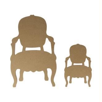 Grande Silhouette Fauteuil MDF - Support Fauteuil - Cadre Fauteuil - 25 cm