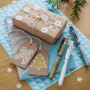 Coffret stylos gel métal et blanc - Mandala Workshop - 6 stylos - Photo n°2