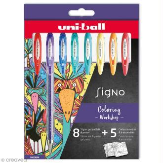 Coffret stylos gel pailleté et pastel - Coloring Worskshop - 8 stylos