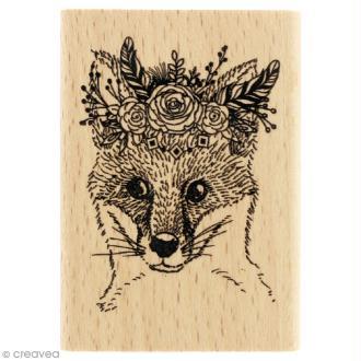 Tampon bois Gypsy forest - Renard gypsy - 50 x 70 mm