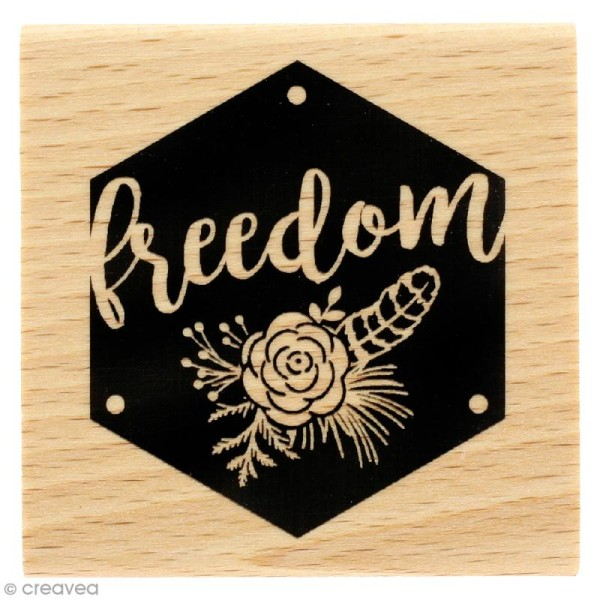 Tampon bois Gypsy forest - Freedom - 60 x 60 mm - Photo n°1