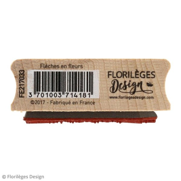 Tampon bois Gypsy forest - Flèches en fleurs - 60 x 60 mm - Photo n°4