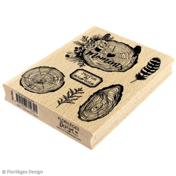 Tampon bois Gypsy forest - Parfum de sous-bois - 100 x 130 mm - Photo n°2