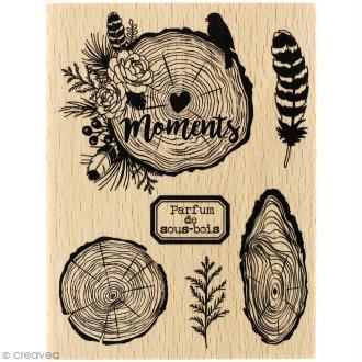 Tampon bois Gypsy forest - Parfum de sous-bois - 100 x 130 mm