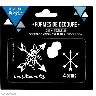 Die Florilèges Design - Instants fleuris - 4 pcs