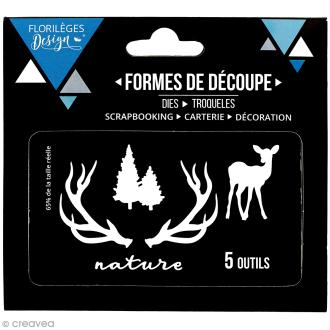 Die Florilèges Design - Nature et sapins - 5 pcs