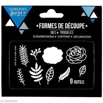 Die Florilèges Design - Fleurs et feuillages - 9 pcs