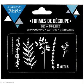 Die Florilèges Design - Feuillages des bois - 5 pcs