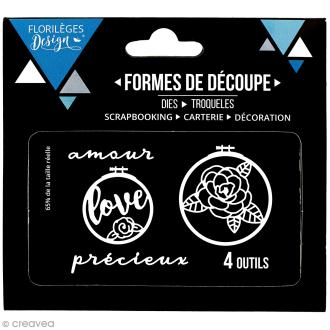 Die Florilèges Design - Cercles à broder - 4 pcs