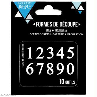 Die Florilèges Design - Des chiffres - 10 pcs