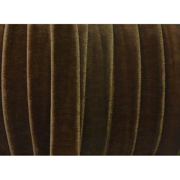 R 1m Ruban Velours Elastique Plat Largeur 10mm Bronze Marbre Rose