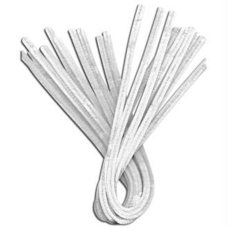 Fil chenille Blanc 50 cm - Lot de 10