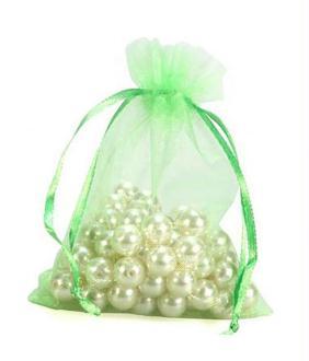 Emballages sachets organza 6 x 8 cm pour bijoux ou dragées lot de 50 Blanc