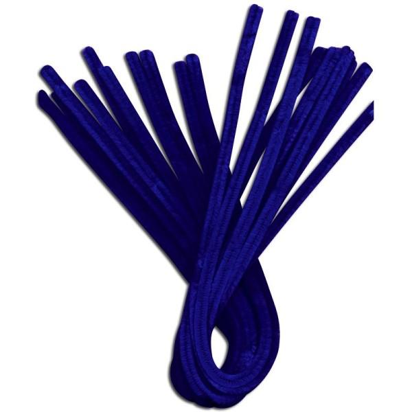 Fil chenille Bleu foncé 50 cm - Lot de 10 - Photo n°1