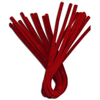 Fil chenille Rouge 50 cm - Lot de 10