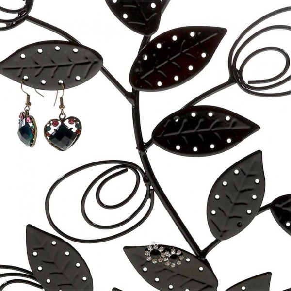 Porte bijoux arbre à boucle d'oreille original tree (60 paires) Noir - Photo n°2
