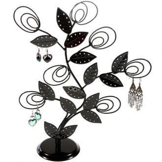 Porte bijoux arbre à boucle d'oreille original tree (60 paires) Noir