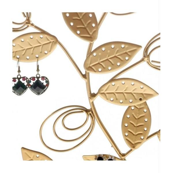 Porte bijoux arbre à boucle d'oreille original tree (60 paires) Cuivre patiné - Photo n°4
