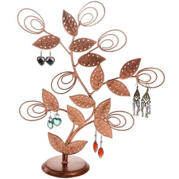 Porte bijoux arbre à boucle d'oreille original tree (60 paires) Cuivre patiné - Photo n°1