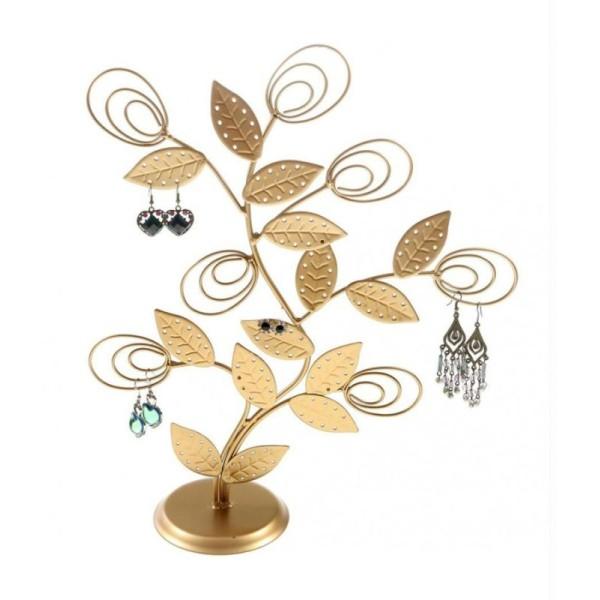 Porte bijoux arbre à boucle d'oreille original tree (60 paires) Gris patiné - Photo n°2