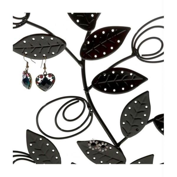 Porte bijoux arbre à boucle d'oreille original tree (60 paires) Gris patiné - Photo n°3
