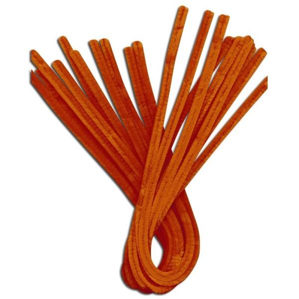 Fil chenille Orange 50 cm - Lot de 10 - Photo n°1